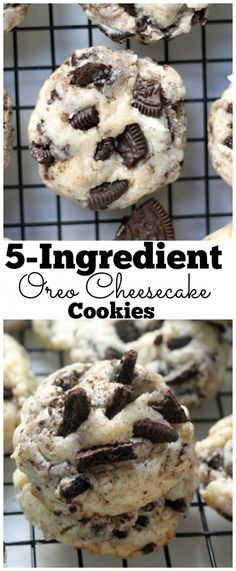 5-Ingredient Oreo Cheesecake Cookies - SO easy and extremely delicious!