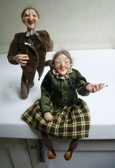 Polymer clay art dolls Fairy tale old people by Abrashka on Etsy, $290.00