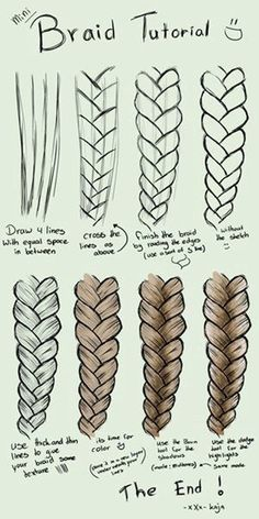 Kunst Zeichnungen - A step by step tutorial on how to draw braids on sumopaint. Kunst Zeichnungen – A step by step tutorial on how to draw braids on sumopaint. … Kunst Zeichnungen – A step by step tutorial on how to draw braids on sumopaint. Pencil Art Drawings, Art Drawings Sketches, Art Drawings Easy, Easy Hair Drawings, Easy People Drawings, Hipster Drawings, Amazing Drawings, Drawings Of Girls Hair, Tattoo Sketches