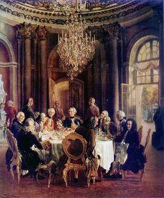 Adolph-von-Menzel-Tafelrunde2 - Voltaire — Wikipédia