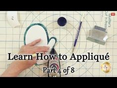 Learn How to Appliqué with Shabby Fabrics - Part 4: Turning the Edges Under - YouTube