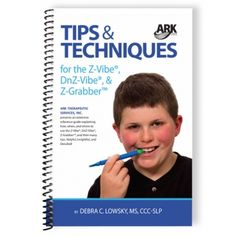 Written by the SLP behind ARK's Z-Vibe, this book describes how to use the Z-Vibe to improve a variety of speech, feeding, and oral motor skills. Chapter topics on tongue elevation, jaw grading, tongue lateralization, lip closure, oral awareness, and more. Visit pinterest.com/arktherapeutic for more #oralmotor therapy exercises