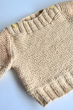 Aesthetic Nest: Knitting: Boatneck Sweater with Gold Buttons. 1-8 yrs