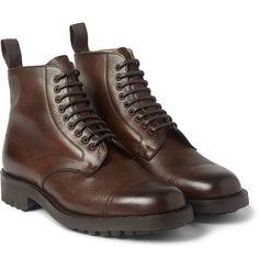 Cheaney - Pennine Pebble-Grain Leather Boots|MR PORTER