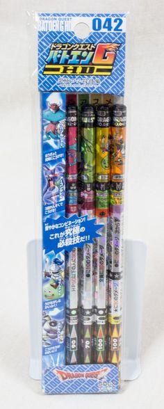Dragon Quest Batoen HG 042 Battle Pencil HB Set Square Enix JAPAN ANIME GAME
