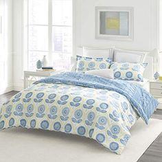 3ec4b0ad56c Laura Ashley Sunflower Duvet Cover Set, King, Blue Blue Comforter Sets,  Blue Duvet