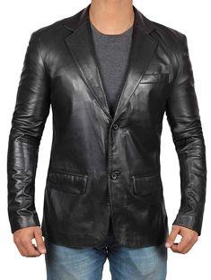 Real Lambskin Brown Leather Mens Blazer - Soomro Buy Leather Jacket, Lambskin Leather Jacket, Leather Blazer, Faux Leather Jackets, Leather Men, Real Leather, Brown Leather, Blazer Fashion, Mens Fashion