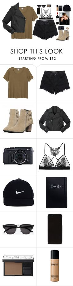 """Untitled #2686"" by wtf-towear ❤ liked on Polyvore featuring Monki, T By Alexander Wang, Marc by Marc Jacobs, Alasdair, Fleur of England, NIKE, Yves Saint Laurent, NARS Cosmetics and Bare Escentuals"
