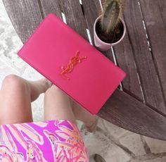 pink ysl bag with li