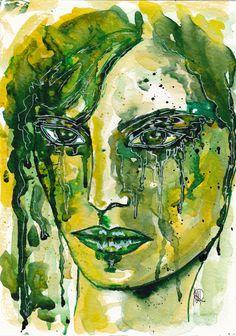 AprilWiese- Portrait - Original von abstrakte bilder und mehr von maria-mercedes auf DaWanda.com
