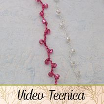catenella ad uncinetto con perline Diy Jewelry, Jewelry Making, Boho Fashion, Videos, Knit Crochet, Beads, Knitting, Bracelets, Creative