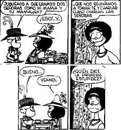 ¿Quién dice la primera estupidez? :p - Mafalda y Susanita