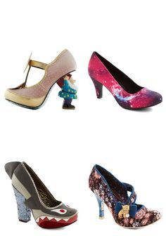{Irregular Heels from ModCloth} *The gnome pair is cracking me up...