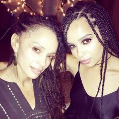 The two lovely ladies are both seen wearing similar hairstyles, with nearly identical facial features.