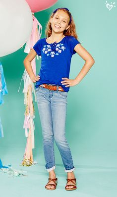 Wear your fave denim cuffed or with a so-now belt to add a fab twist to your every day look.