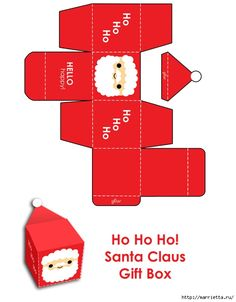 6 Best Images of Christmas Santa Printable Paper Box Templates - Free Printable Christmas Box Template, Printable Santa Christmas Crafts and Printable Christmas Gift Box Template Merry Christmas Santa, Christmas Tree With Gifts, Christmas Candy, All Things Christmas, Christmas Holidays, Christmas Boxes, Christmas Gift Box Template, Merry Xmas, Paper Toys