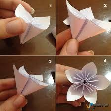 Resultado de imagen para flor de origami paso a paso