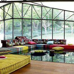 Roche bobois mah jong jungle modular sofa in KENZO home fabrics