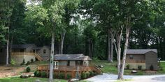 These cabins are located across from our event center.