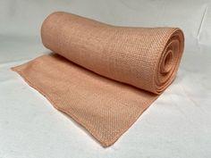 """14"""" Peach Burlap 10 Yard Roll Sewn Edges - Made in USA Burlap Fabric, Burlap Ribbon, Rolls, Peach, Yard, Usa, Sewing, Decor, Burlap Canvas"""
