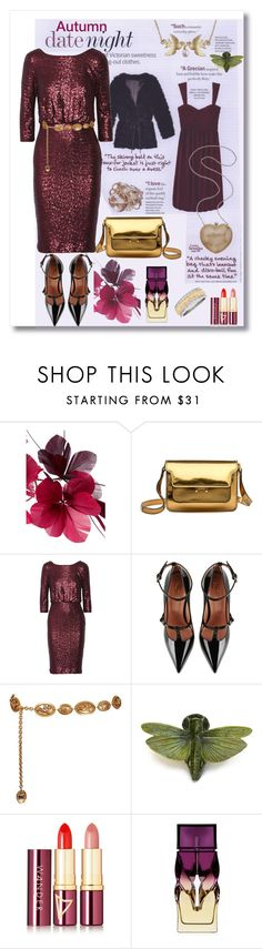 """""""Date Night"""" by kitty-kimber ❤ liked on Polyvore featuring Valentino, Marni, Badgley Mischka, RED Valentino, Chanel, Wander Beauty and Christian Louboutin"""