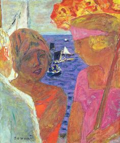 Bonnard, Pierre (French, 1867-1947) - The Conversation at Arcachon - 1926 (by *Huismus)