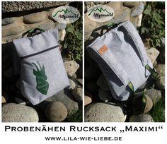 Minimi und Maximi - der Rucksack für Erwachsene und Kinder! Kostenloses Schnittmuster und step-by-step Anleitung - FREEBOOK