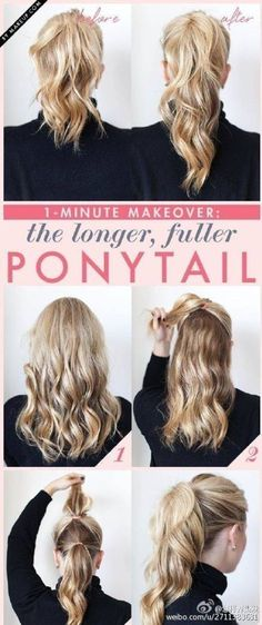 longer ponytail