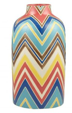 Love this Pattern! Amalfi Caberet Vase 40cm from Amalfi