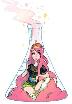 PB in a beaker by Frankzie on DeviantArt Adventure Time Princesses, Adventure Time Finn, Cartoon Drawings, Cute Drawings, Character Art, Character Design, Marceline And Princess Bubblegum, Princess Drawings, Princess Tattoo