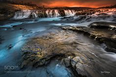 Bruarfoss by tenchinage Landscape Photography, Travel Photography, Photos Of The Week, Iceland, Waterfall, Nature, Landscapes, Outdoor, Places