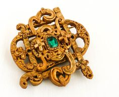 Columbian gold and emerald brooch,  from the wreck of the Atocha