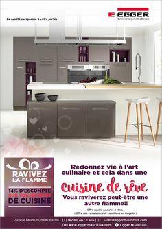 Egger Mauritius - Ravivez la flamme dans votre cuisine de rêve ! Tél: 467 1365