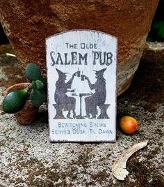 Dollhouse salem halloween sign miniature witches by DewdropMinis Salem Halloween, Halloween Signs, Witch Pictures, Witch Signs, Dollhouse Accessories, Made Of Wood, Witches, Hand Stamped, Dollhouse Miniatures