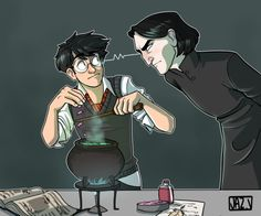 Harry Potter and Severus Snape