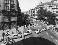 Die Bahnhofstrasse 1964. Street View, Past, Archive, City, Photo Illustration