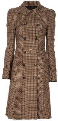 BALENCIAGA Plaid coat - Polyvore