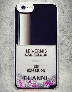 Chanel Flowing Sand Nail Polish Case for iPhone 6/ 6 plus free shipping hot sale