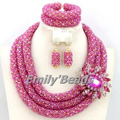 Find More Jewelry Sets Information about Fashion Nigerian Wedding African Beads Jewelry Set Crystal African Beads Jewelry Set Bridal Necklace Set Free Shipping AEJ754,High Quality necklaces for mothers day,China necklace topaz Suppliers, Cheap necklace lotr from Emily's Jewelry DIY Store on Aliexpress.com