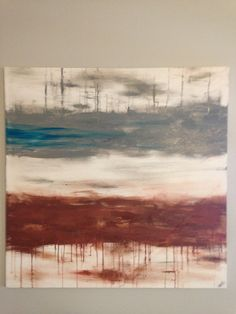 Extra large Modern Abstract Acrylic Painting by CanvasesbyJenn, $100.00