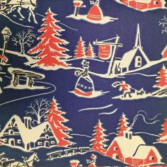 Ye Old Tavern! Vintage holiday wrapping paper from 1940! ❤️☃❄️ #picturecollection100