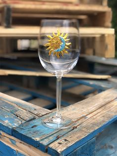 Queens' Jewels Sun and Moon Wine Glass by Cork Pops Queens Jewels, Gifts For Wine Lovers, White Wine, Cork, Wine Glass, Alcoholic Drinks, Sun, Glasses, Eyeglasses