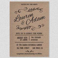 Printable Wedding Invitations Best Photos. Wedding Invitation  TemplatesRustic ...