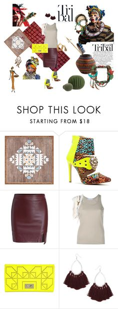 """Tribal"" by studiodinteriors on Polyvore featuring ESPRIT, DENY Designs, Masquerade, Paco Rabanne, Danielle Nicole, Topshop and Chanel"