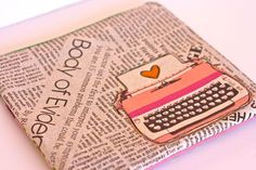 Amber's typewriter pouches and pillows are da bomb! Typewriter Pouch - Linen