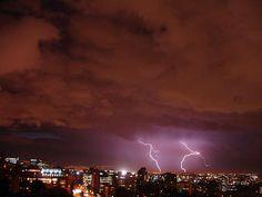 Electric storm over Bogotá DC