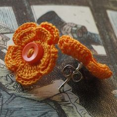 Merrill Crochet Flower Earrings- Orange | Flickr - Photo Sharing!