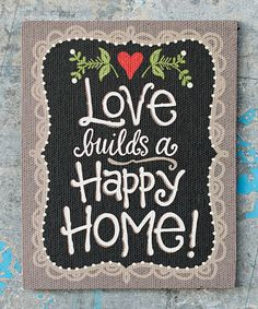 Another great find on #zulily! 'Love Builds a Happy Home' Magnet #zulilyfinds