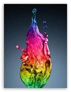 rainbow water like a paisley