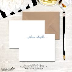 Gift for her Poppy note cards Personalized Stationary folded cards, custom cards Girlfriend Present Garden Cards for women